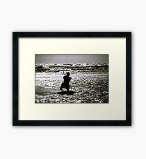 Kite Surfing Framed Print