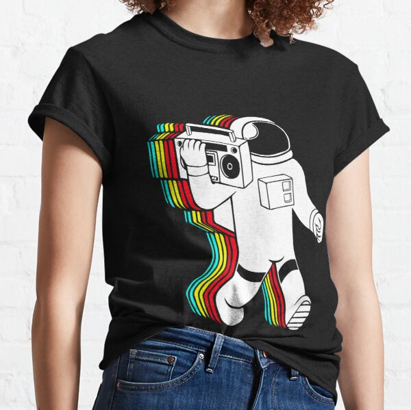 Astronaut with boombox Classic T-Shirt