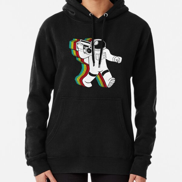 Astronaut with boombox Pullover Hoodie