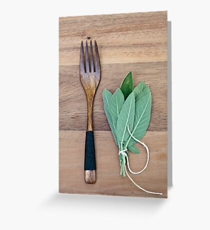 Fork and Sage Greeting Card