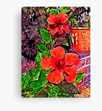 In The Garden, Red Rules... Canvas Print