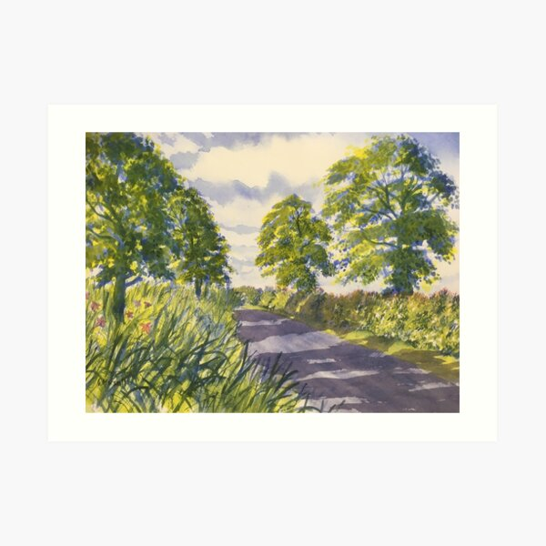 Hedgerows on the road to Rudston Art Print