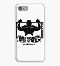 Wrestling Watching Club Glass Shatter BW Logo iPhone Case/Skin