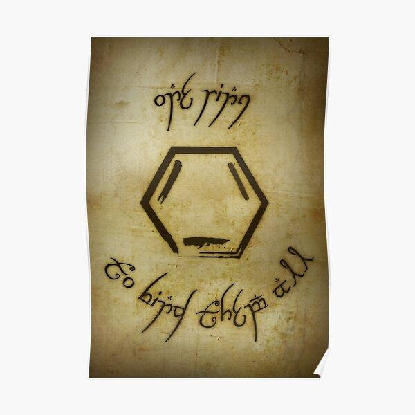 Un anneau Poster