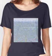 THE MEGATROPOLIS (cool hues) Women's Relaxed Fit T-Shirt