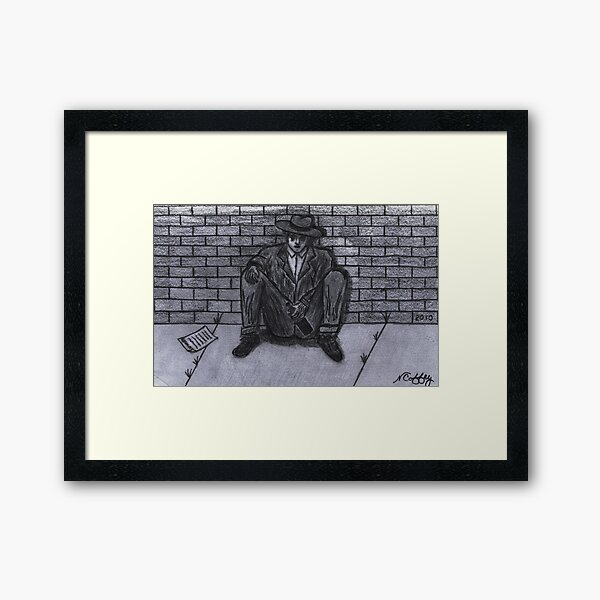 OUT OF WORK Framed Art Print
