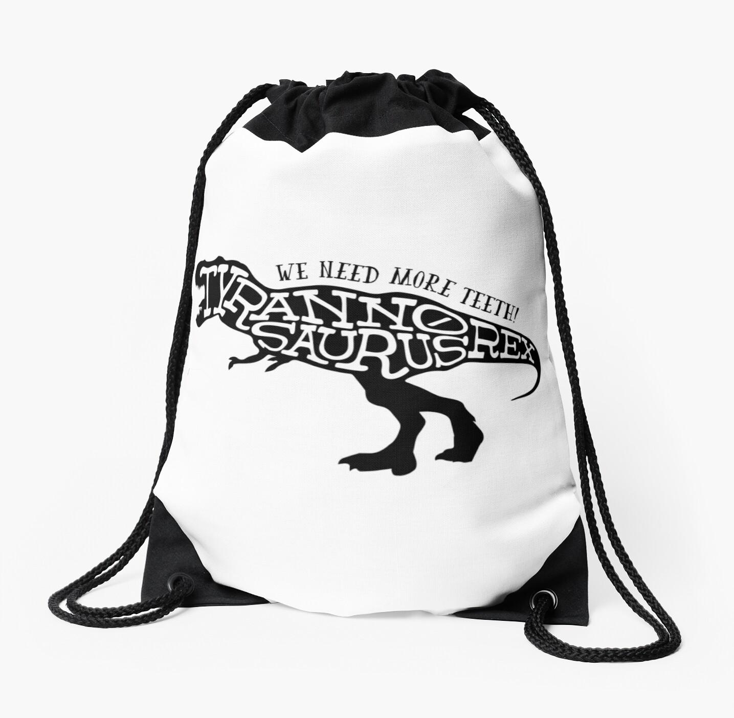 Excellent Stencil Tyrannosaurus Rex Drawstring Bag By Marslegarde Machost Co Dining Chair Design Ideas Machostcouk