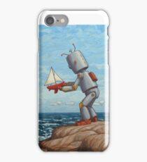 robot sailboat iPhone Case/Skin