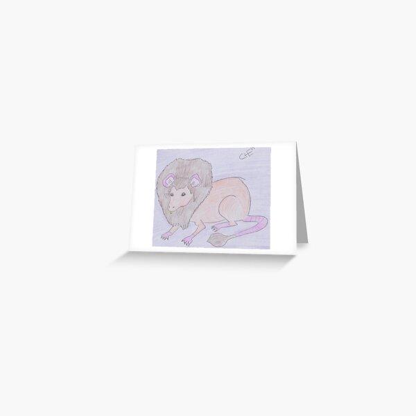 Lion Rat Greeting Card