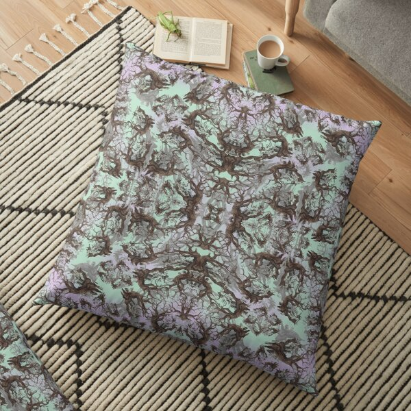 ANCIENT PINE SNAG MANDALA Floor Pillow