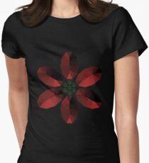 Red and Green Gem Style Flower T-Shirt