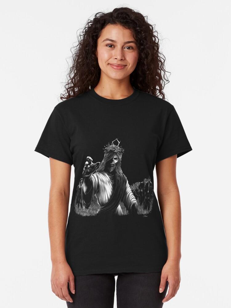 T-shirt classique ''Night of the rising dead': autre vue