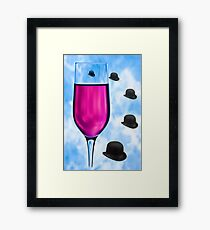 Cocktails with Magritte - Print Framed Print