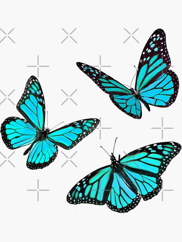 monarch butterfly sticker pack blue by Simplykatie