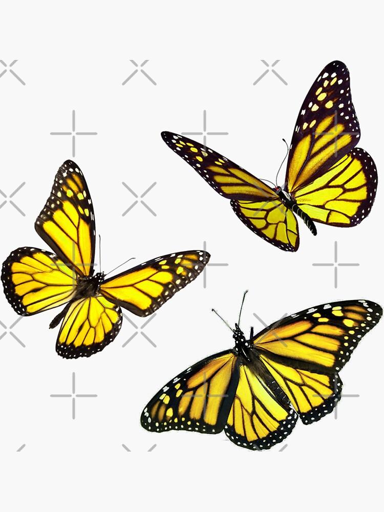 monarch butterfly sticker pack yellow by Simplykatie