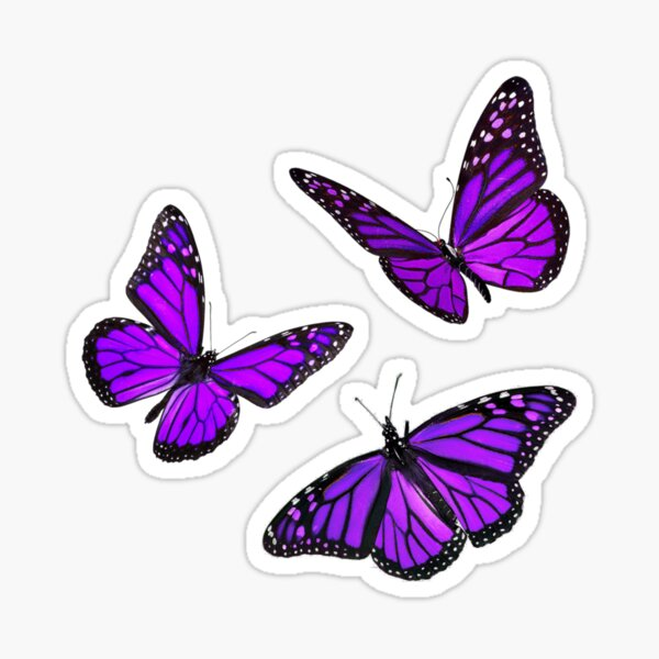 monarch butterfly sticker pack purple Sticker