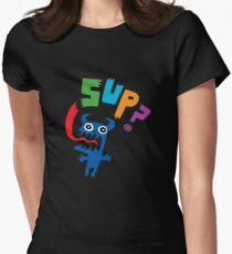 SUP?  on darks Women's Fitted T-Shirt