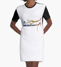 I Love Music Graphic T-Shirt Dress