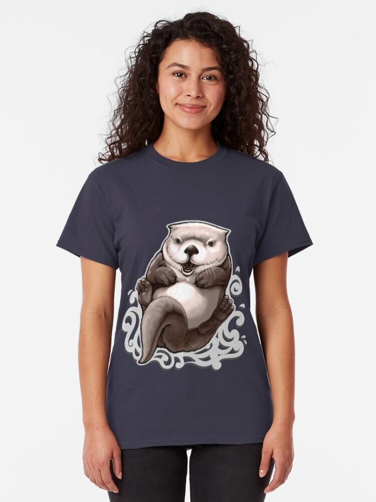 T-shirt classique ''Loutron de mer': autre vue