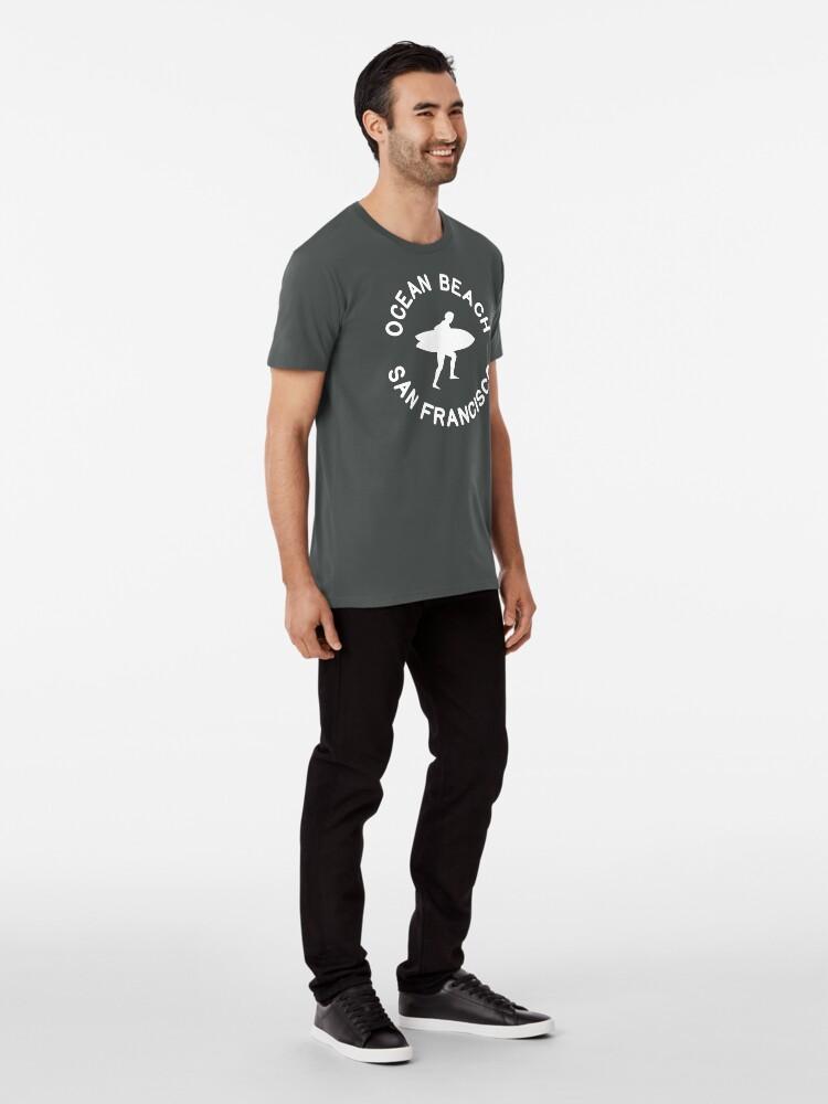 Alternate view of Ocean Beach San Francisco Premium T-Shirt
