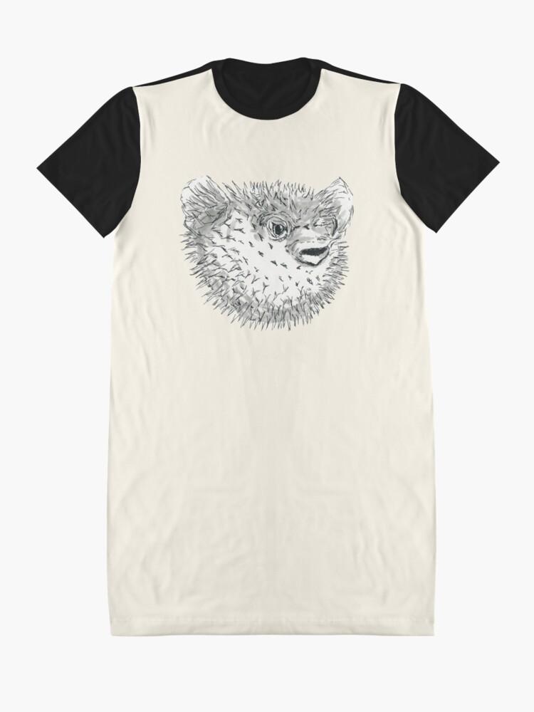 Alternate view of Pufferfish Graphic T-Shirt Dress