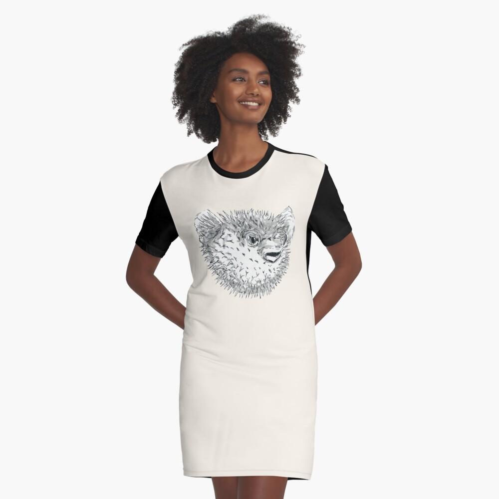 Pufferfish Graphic T-Shirt Dress