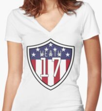 Tobin Heath #17 | USWNT Women's Fitted V-Neck T-Shirt