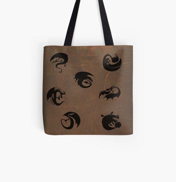 Httyd Dragon Class Symbols Bolsa estampada de tela