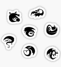 Httyd Dragon Class Symbols Sticker