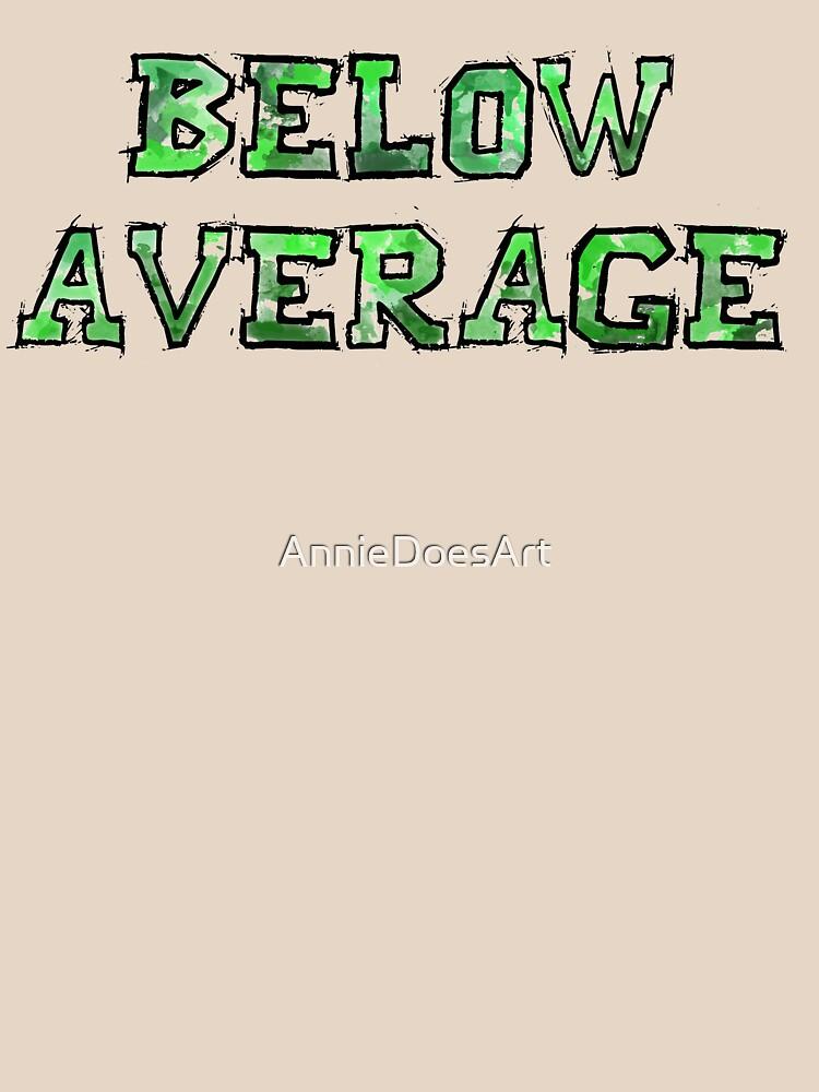 Por debajo del promedio de AnnieDoesArt