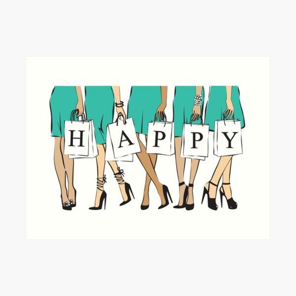 Happy Women Art Print