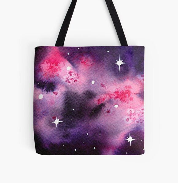 Soft Pink Space All Over Print Tote Bag
