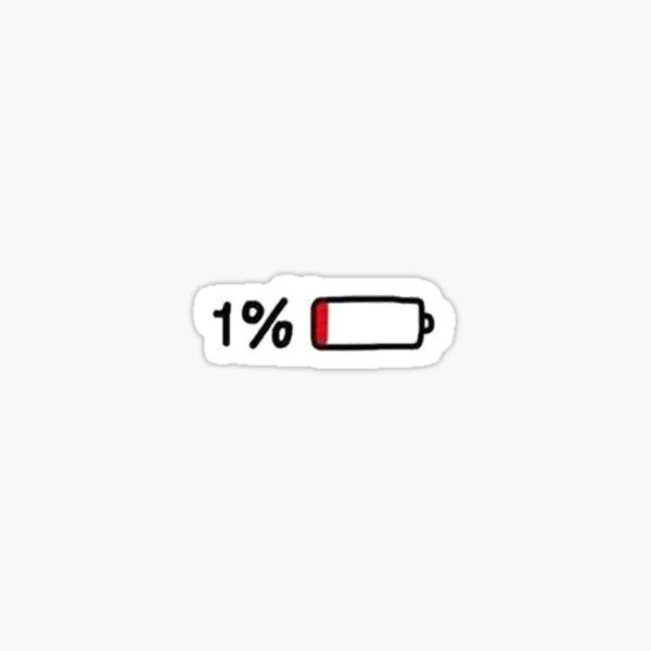 1 por ciento de etiqueta Pegatina