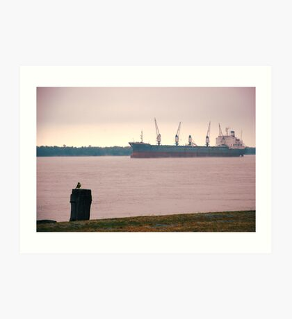 Life by the Parana River... Art Print