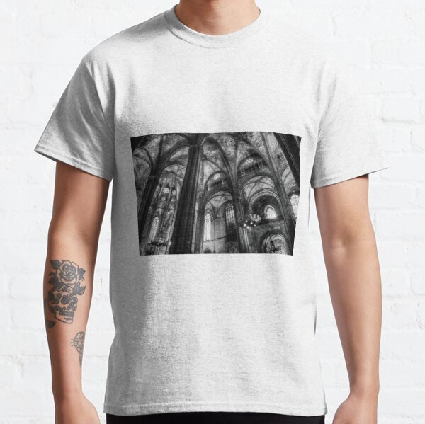 Barcelona Cathedral Monochrome Classic T-Shirt