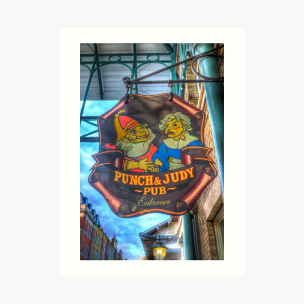 beach tent Punch /& Judy That/' Metal//Steel Wall Sign Marionette Theatre