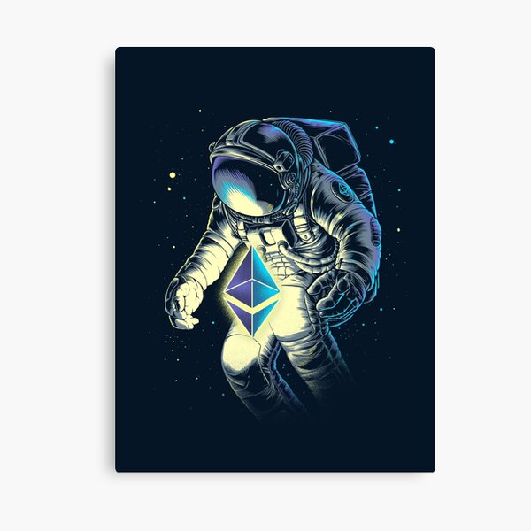 Space Ethereum Canvas Print