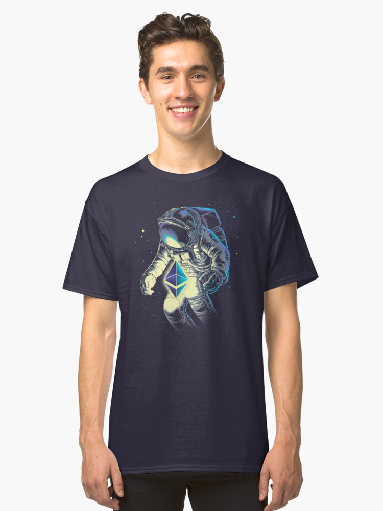 Alternate view of Space Ethereum Classic T-Shirt