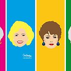 The Golden Girls - All Four on a colourful design by gregs-celeb-art