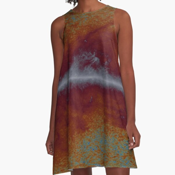 #Abstract, #paper, #canvas, #antique, art, dirty, pattern, old, design, sooty, rough A-Line Dress