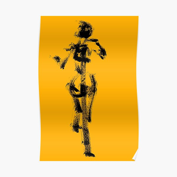 Yellow Character - Flight - Jenny Meehan Poster
