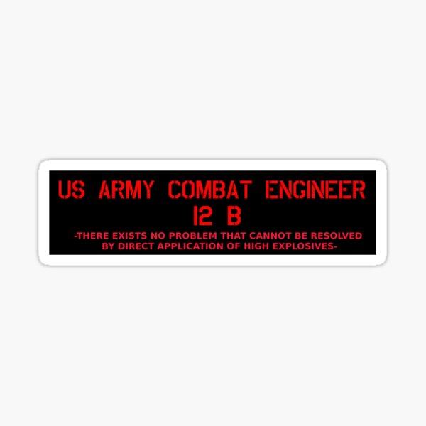 Portrait Combat Engineer What I Do Sticker