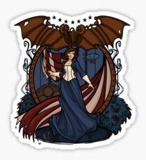 Elizabeth Nouveau Sticker