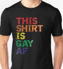 Camiseta ajustada Novedad gráfica LGBT de Rainbow Pride Parade, esta camiseta es una camiseta desgastada Gay AF
