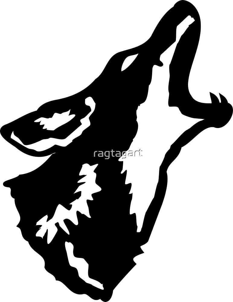 Coyote in Black by ragtagart