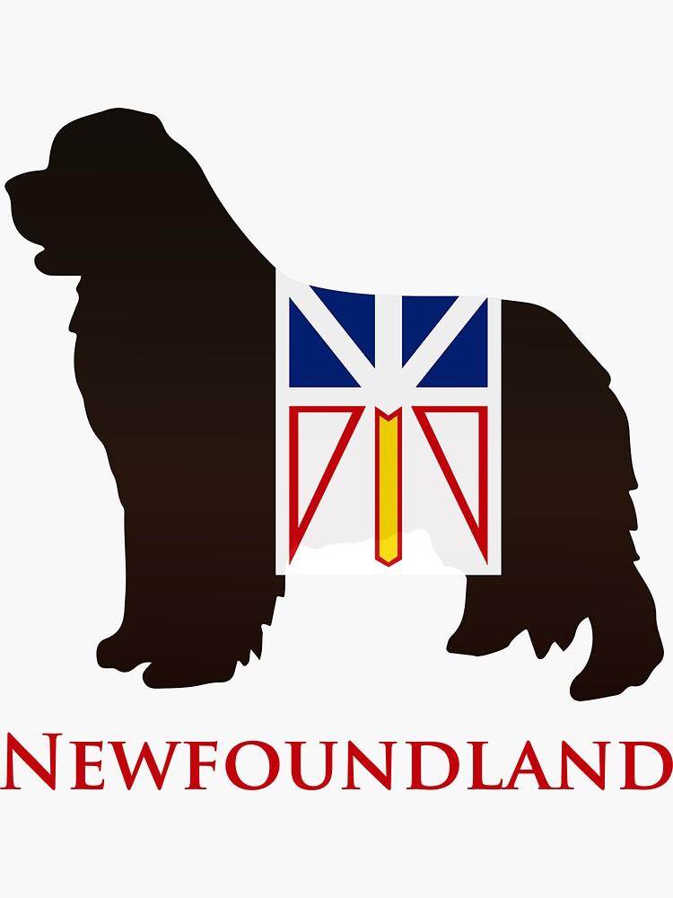 Newfoundland Dog sporting the Newfoundland flag! by itsmechris