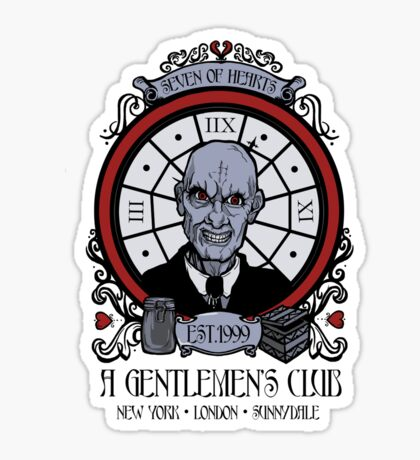 A Gentlemen's Club Sticker