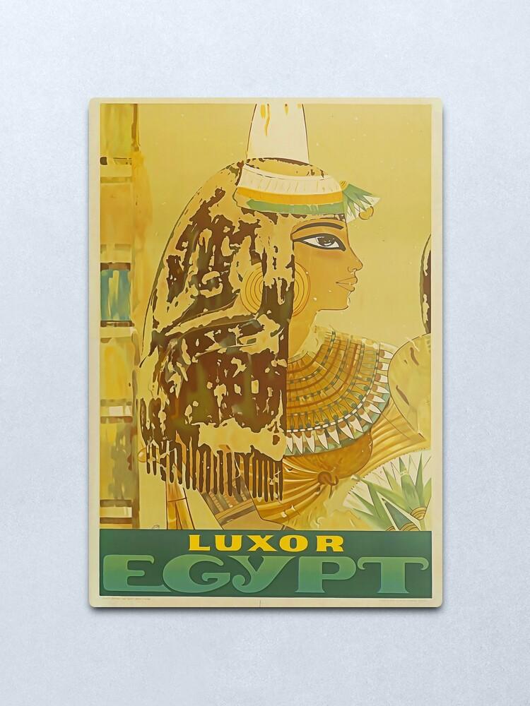 Alternate view of Luxor Travel Poster Metal Print