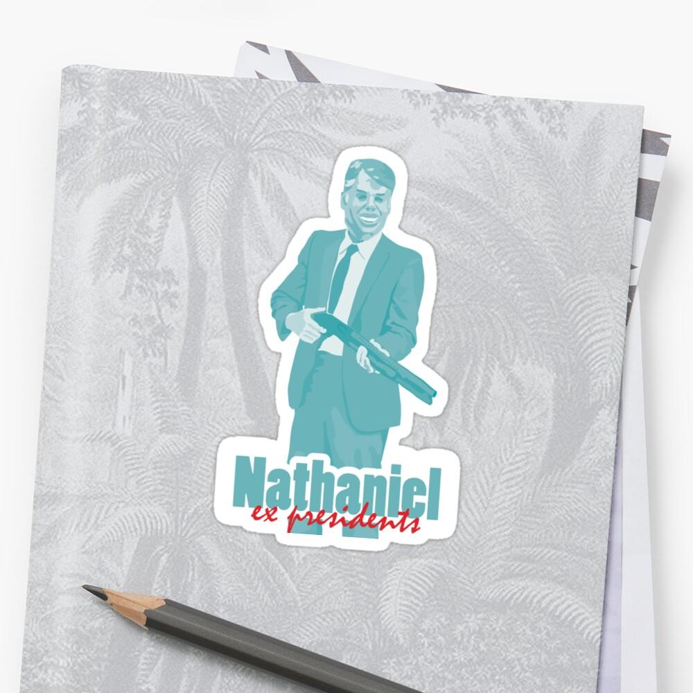 "Nathaniel - Jimmy Carter ""ex presidents""  Sticker"