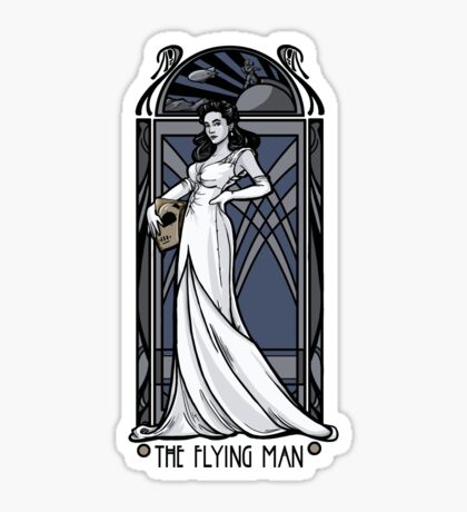 The Flying Man Sticker